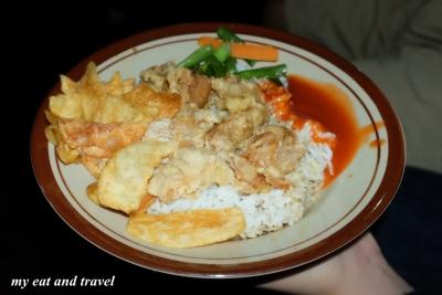 kalo yang ini, nasi bistik (pake nasi putih biasa)